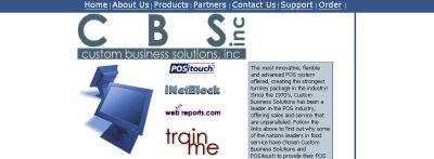 CUSTOM BUSINESS SOLUTIONS web shot