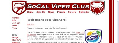 SoCal Viper Club screen shot